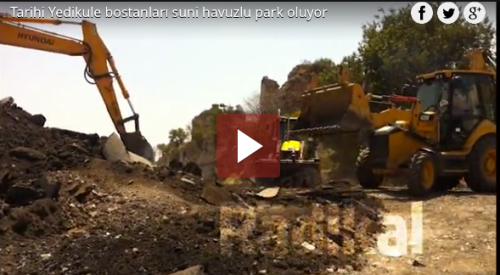 Bulldozers in the bostans, July 2013.  (Via webtv.radikal.com.tr)
