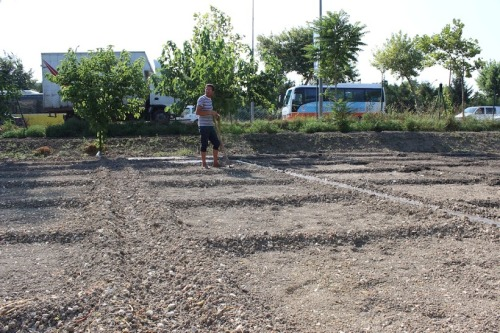 A bostancı in Ahmet Bey's bostan prepares plots for planting in July of 2014 (Photo, Erich Strom)
