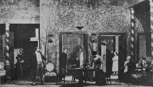 A scene from Act 3 of The Cherry Orchard's first run, in 1904, at the Moscow Art Theatre. (Photo courtesy Wikimedia)